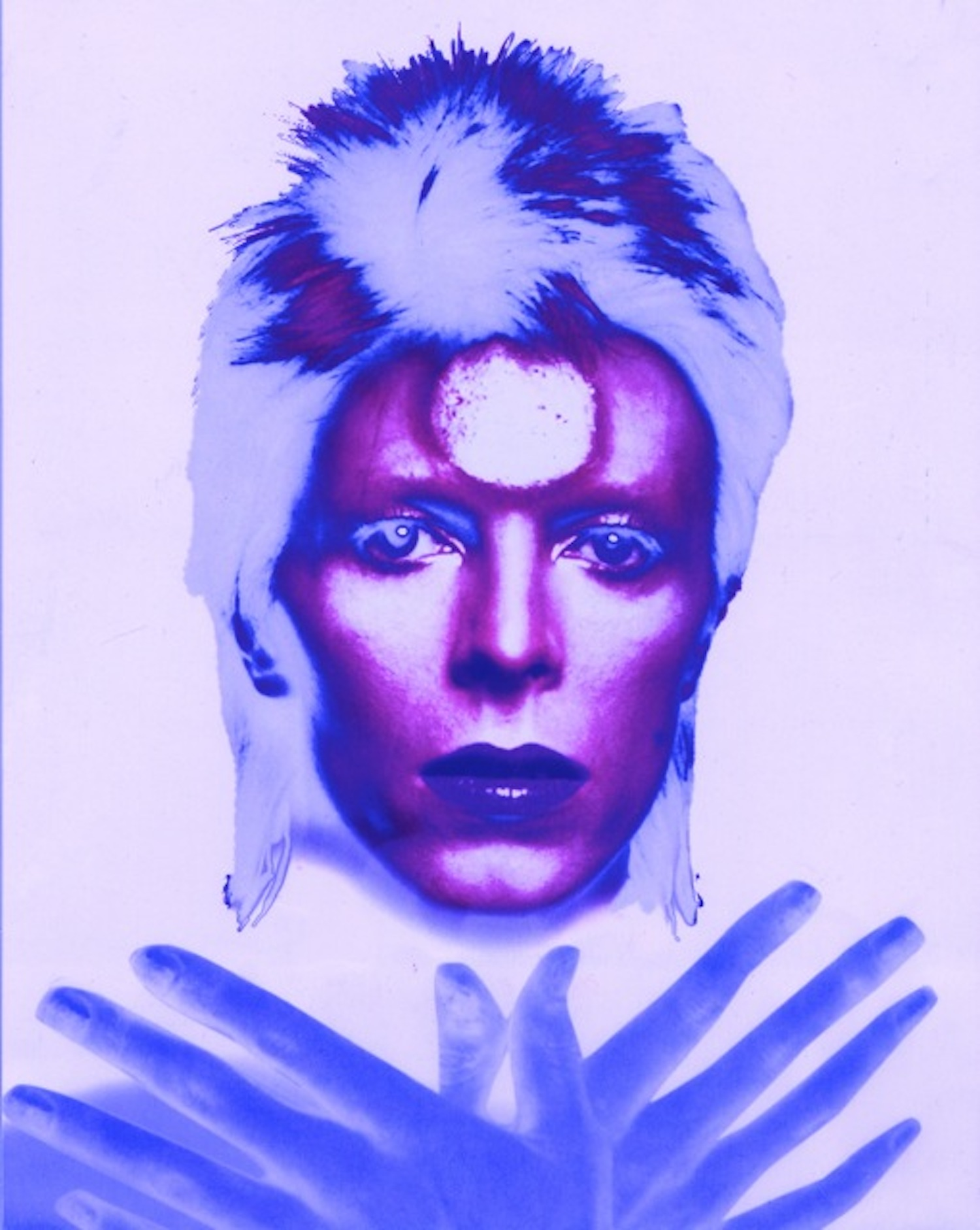 Ziggy Stardust Polychrome: Purple (24 x 20)