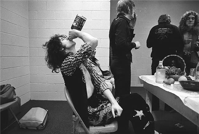 Jimmy Page & Jack Daniels 1975 (24 x 20)