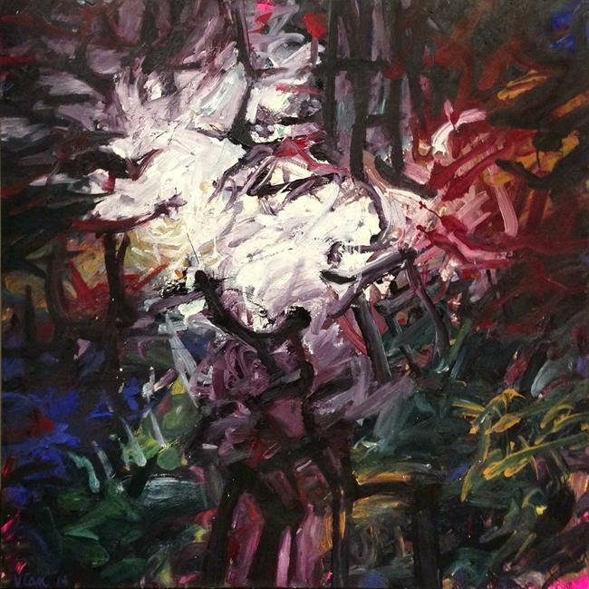 Sky Through Forest II (48 x 48)