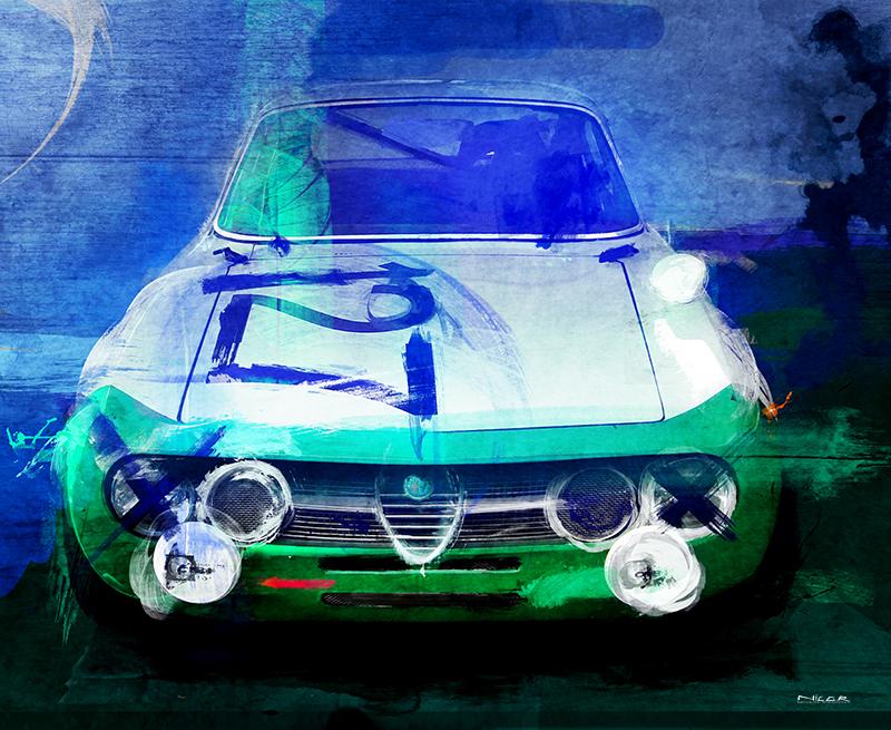 Italian Bella: 1974 Alfa Romeo GTV (11 x 14)