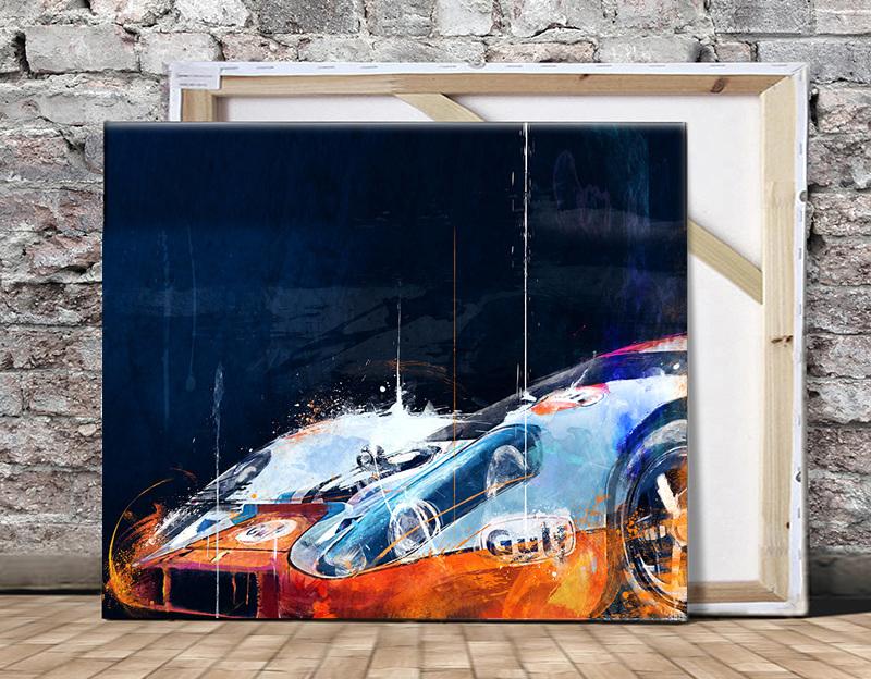 Steve's Gulf: 1971 Porsche 917k (27 x 40)