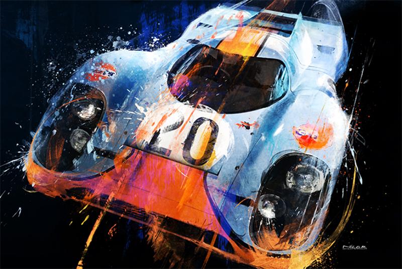 McQueen 20: 1971 Porsche 917k (40 x 60)