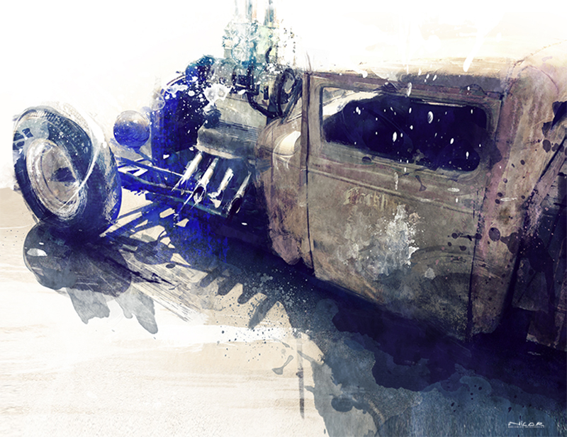 Rusty Rod: Hot Rod (30 x 40)