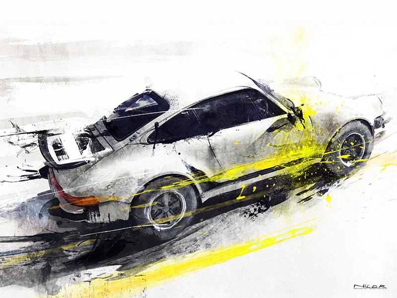 Porsche 911 (40 x 30)
