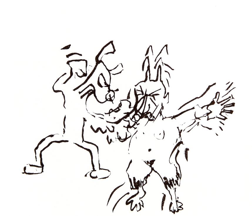 Dog Beating Pan