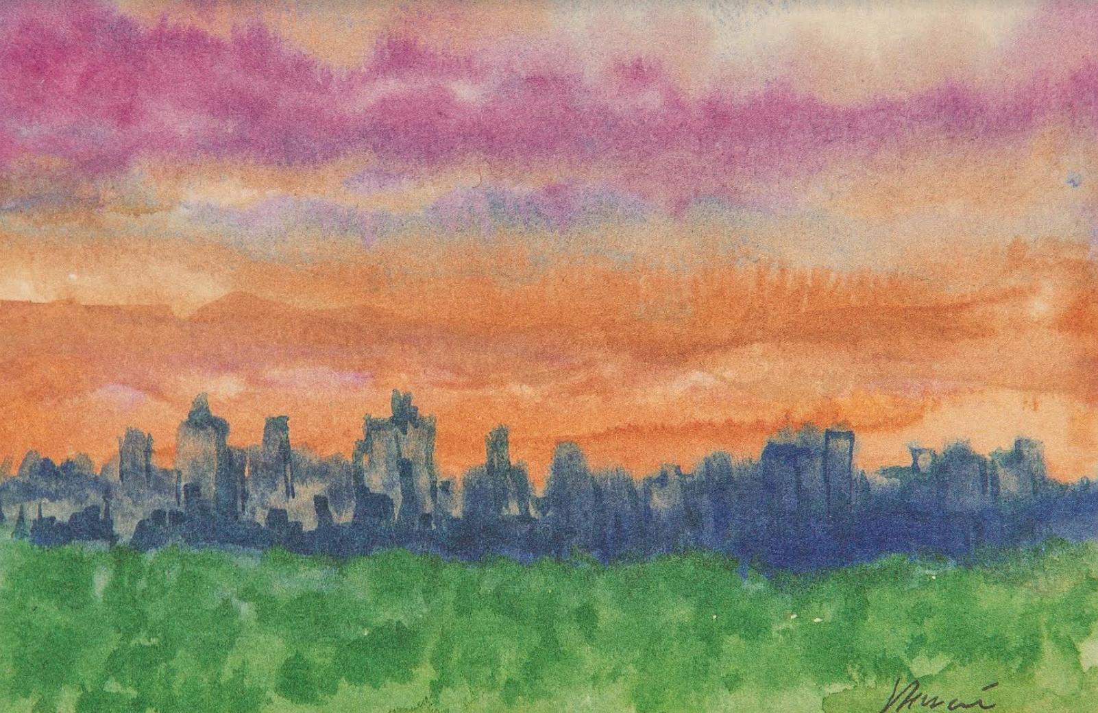 Dawn at the Ritz Carlton (10 1/2 x 12 1/2)