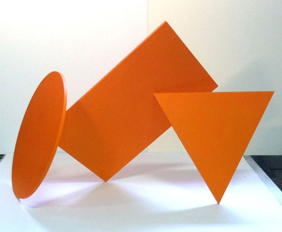 Three Orange Shapes (23 x 38 20)
