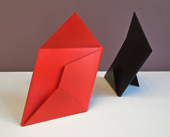 Envelope V - Black & Red (8 3/4 x 8 x 4)
