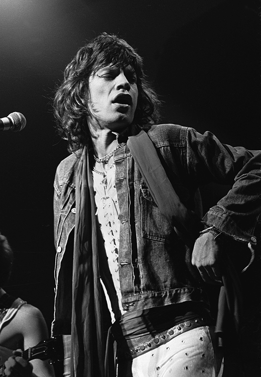 Charlie Auringer  Glimmer Twins - Mick Jagger (40 X 30)  Silver gelatin limited edition photographic print on paper  Email us for all inquiries: gerard@robertkiddgallery.com