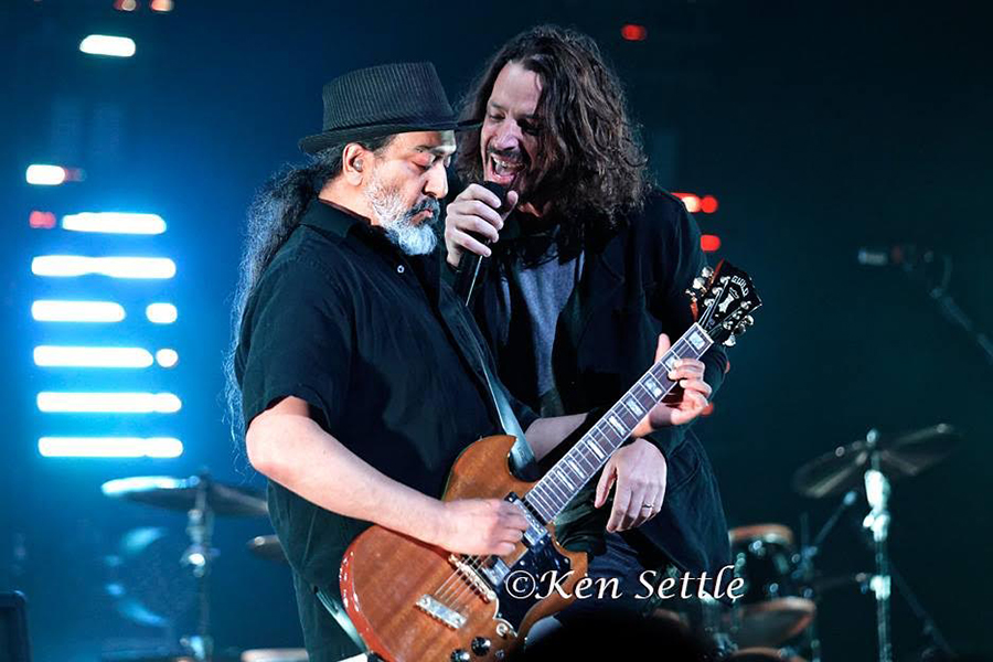 Ken Settle  Chris Cornell & Kim Thayil 2017 (11 X 14)  Silver gelatin limited edition photographic print on paper  17 x 20 3/4 (framed)  Email us for all inquiries: gerard@robertkiddgallery.com