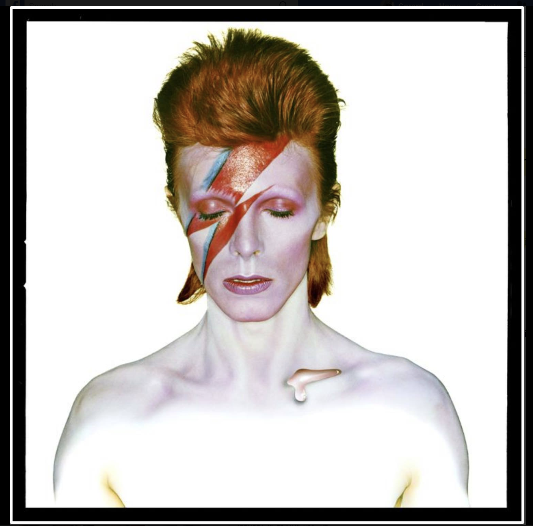 David Bowie as Aladdin Sane 1973