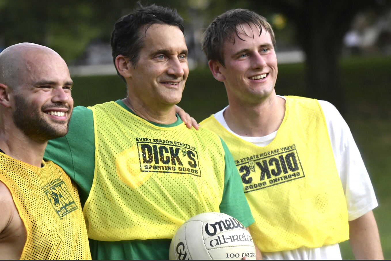 (left to right) Kyle Wilkinson, Mike McCarthy and Mike's son, Jack