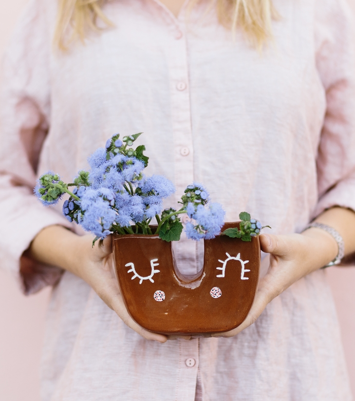 U Cutie Ceramic Handmade Vase