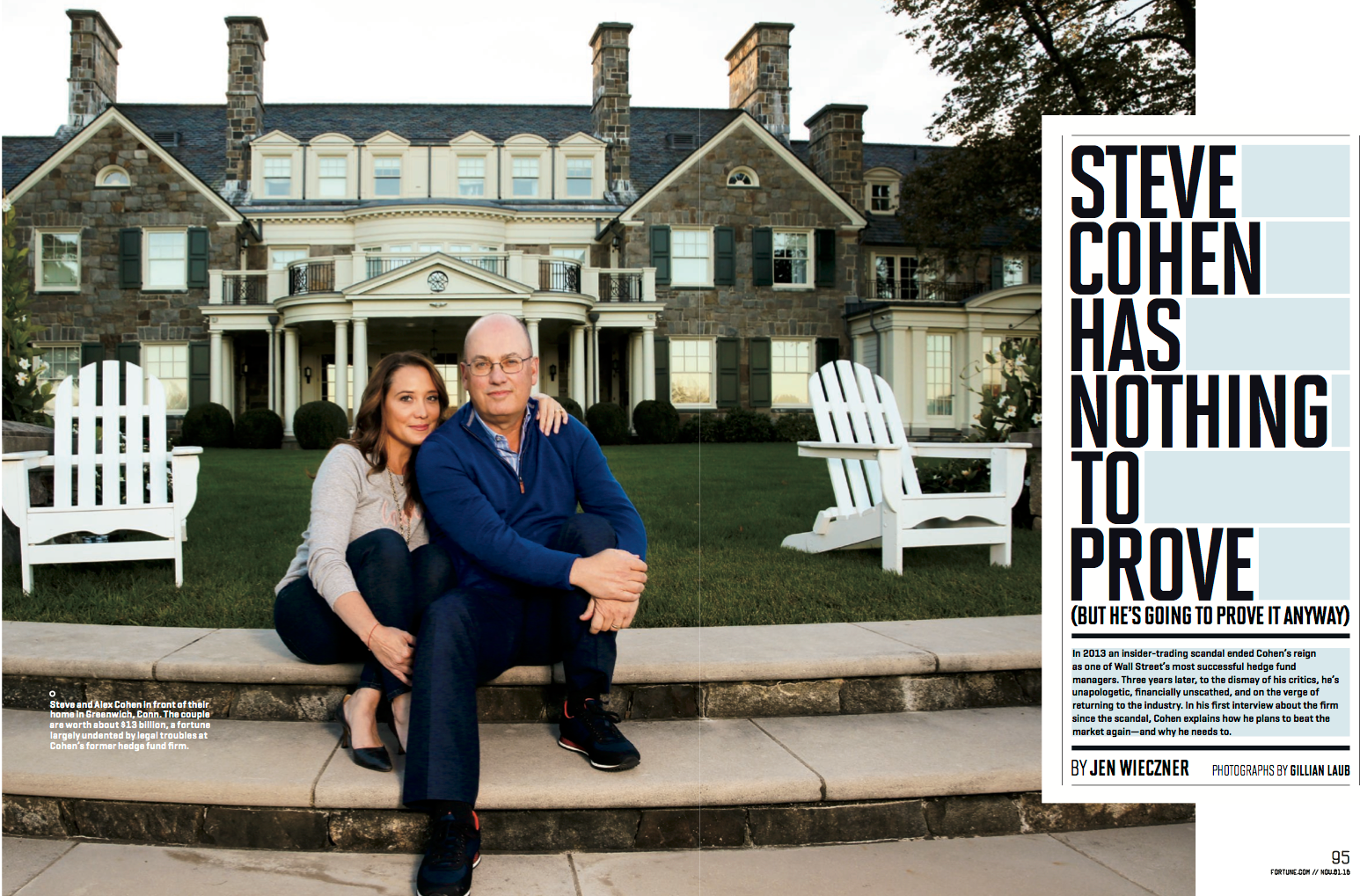 """""""Inside Billionaire Steve Cohen's Comeback,"""" Fortune, October 2016"""