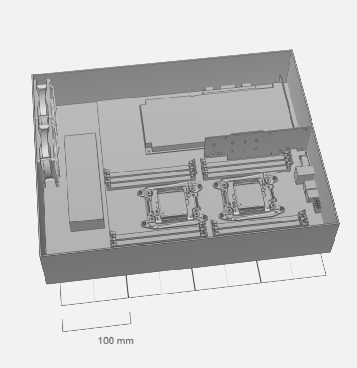 This PC model would take over 50 hours to print in one piece, but we only had 32 hours to complete the project