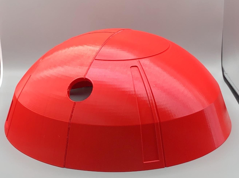 "Full-Size Dalek Model Head - 24"", PLA, 300 micron"