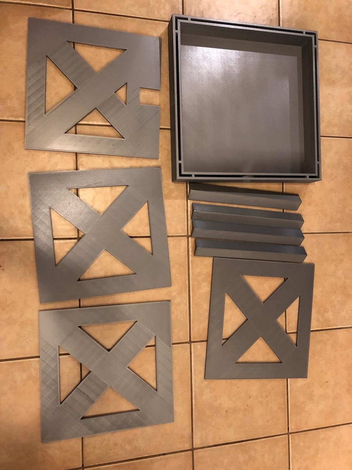 "Assembling Box Prototype - 20"", PLA, 300 micron"