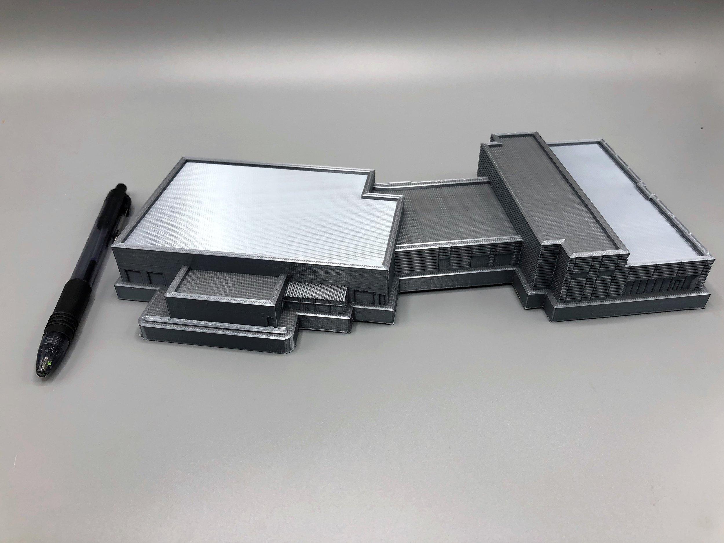 "Car Dealership Scale Model - 12"", PLA, 100 micron"