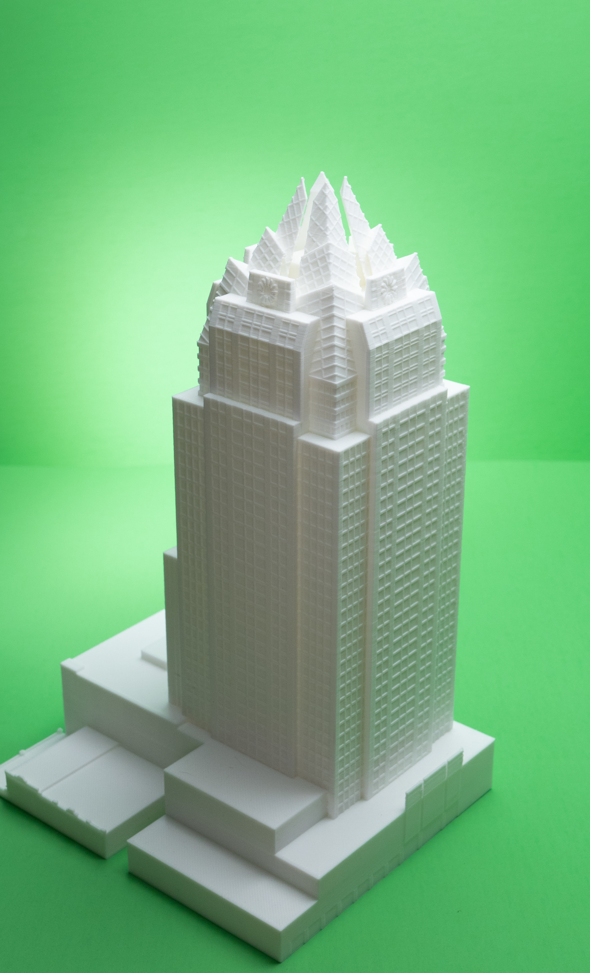 The iconic frost tower from our home town of Austin, TX.  We designed and printed this model in house.