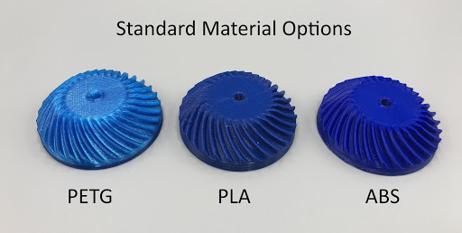 ABS, PETG, and PLA have differing strength characteristics which are important to consider when 3D printing end use parts.