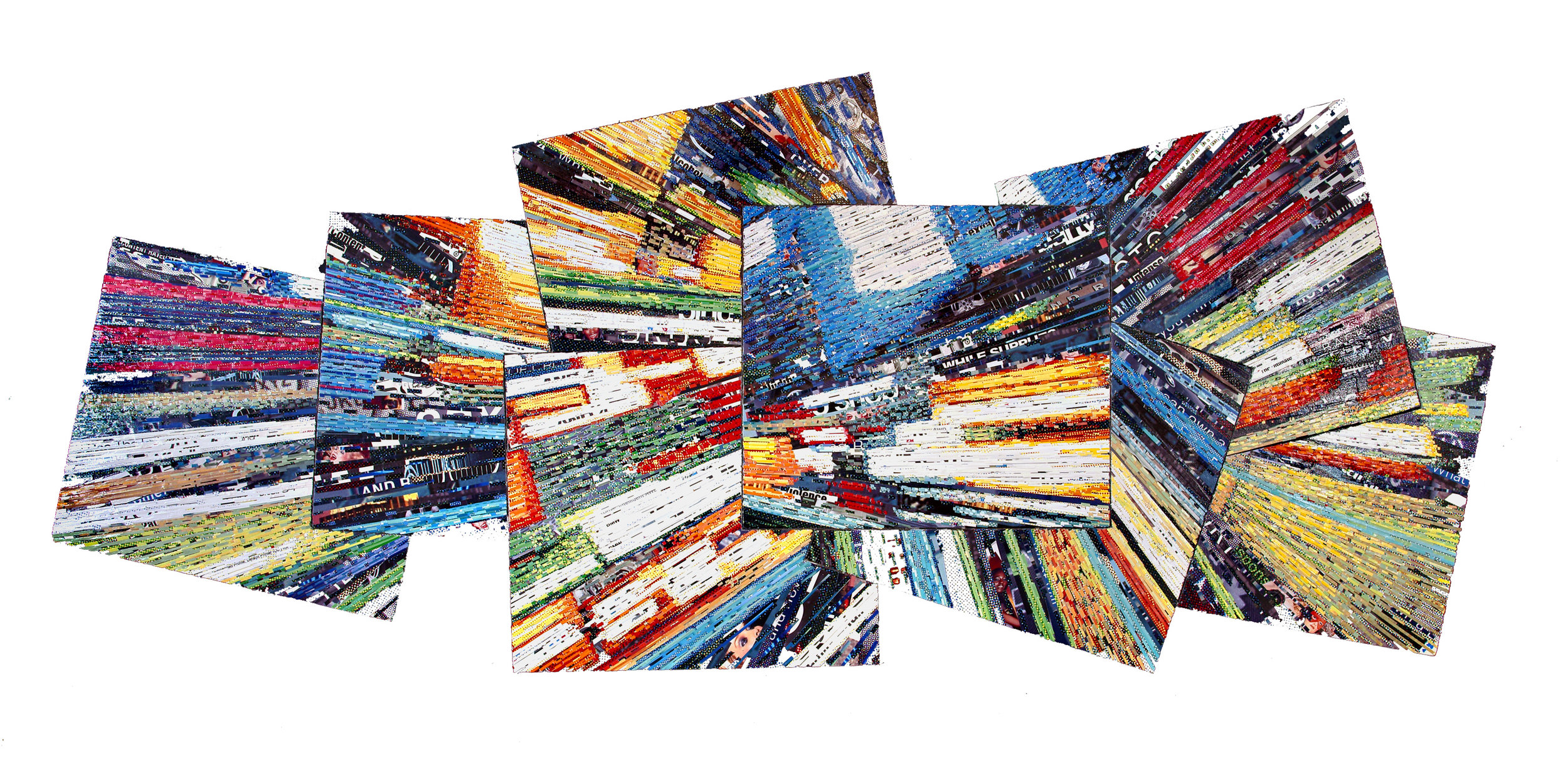 I'm going to drop you off right here, 2011, 42 x 96, Billboard paper on wood panel