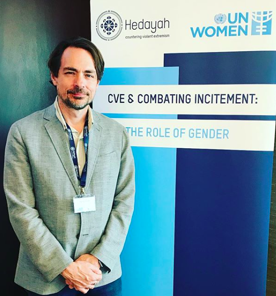 Discussing gender and extremism in Abu Dhabi - Randy Blazak spoke at a United Nations workshop on the role of gender in countering violent extremism, April 16-18 in the United Arab Emirates.