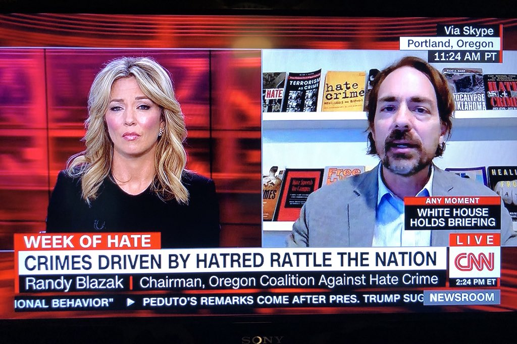 CNN interview on synagogue attack - Dr. Blazak did several interviews with the mainstream media regarding the Pittsburgh synagogue attack and the rise in domestic terrorism events.