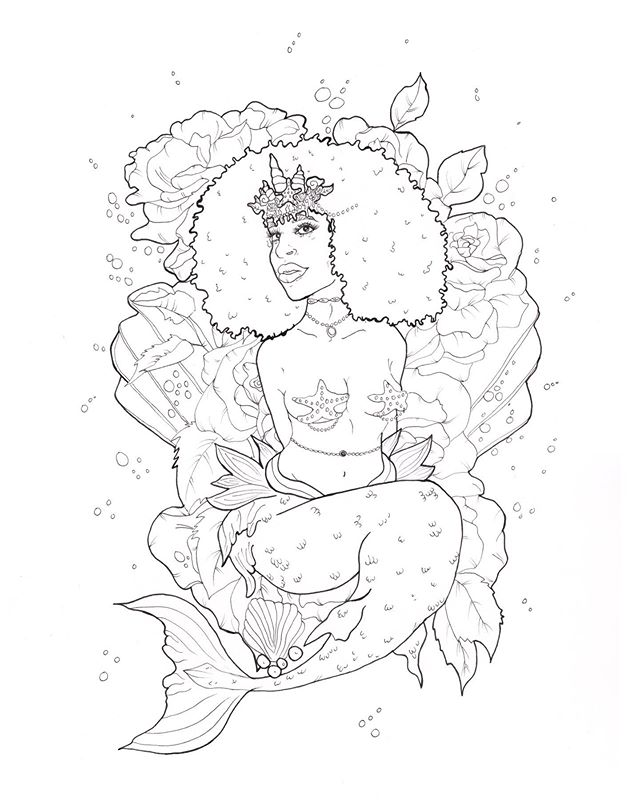𓁼⁣ ⁣ Sea Of Roses 🥀 ⁣ 11x14 ink on paper⁣ ⁣ This piece is now available on my webshop as a digital download coloring page! Easy to download, print, and color with markers, crayons, colored pencils, as well as digitally on your ipad, tablet, etc. ⁣ ⁣ Let me know what you guys think xx ⁣  ________ ⁣ #blackworkillustration #lineart #coloringpage #inkart #penart #micronpen #pensketch #artdaily #sketchdrawing #blxck #penandinkdrawing #inksketch #blackandwhitedrawing #blackpen #ballpen #mermaidart #sirenart #blackmermaid #artistsoninstagram #artwork #instaartist #mermaid #siren #inkedartgroup #thelittlemermaid ⁣#inklovers #inkartist #inkartwork