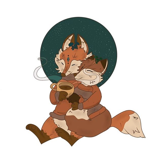 I am obsessed with drawing the dark and mysterious. The shadow side of things intrigues me the most, but I also love to draw very cute and heartwarming things. Meet Ember and Amber Fox! They are overjoyed about Autumn's sweet promises. ⁣ ⁣ Ember and Amber Fox will be in my shop as vinyl stickers and greeting cards beginning this Friday The 13th during my shop update. Lots of Autumn and Halloween things—both creepy and cute for this update. •⁣⁣ •⁣⁣ •⁣⁣ • #procreateartist #cutethings #characterdesign #artoftheday #autumnthings #womenwhodraw #illustration