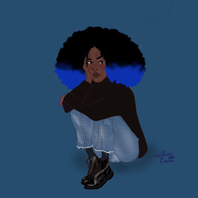 🧿🧿🧿 . . . . . . . #characterdesign #procreateart #digitalartist #digitaldrawing #originalcharacter #artistoninstagram #womenwhodraw #blackartist #darkart #fallstyle #artoftheday #justdraw #arte #sketch #create #instaart #artiste #procreateartist
