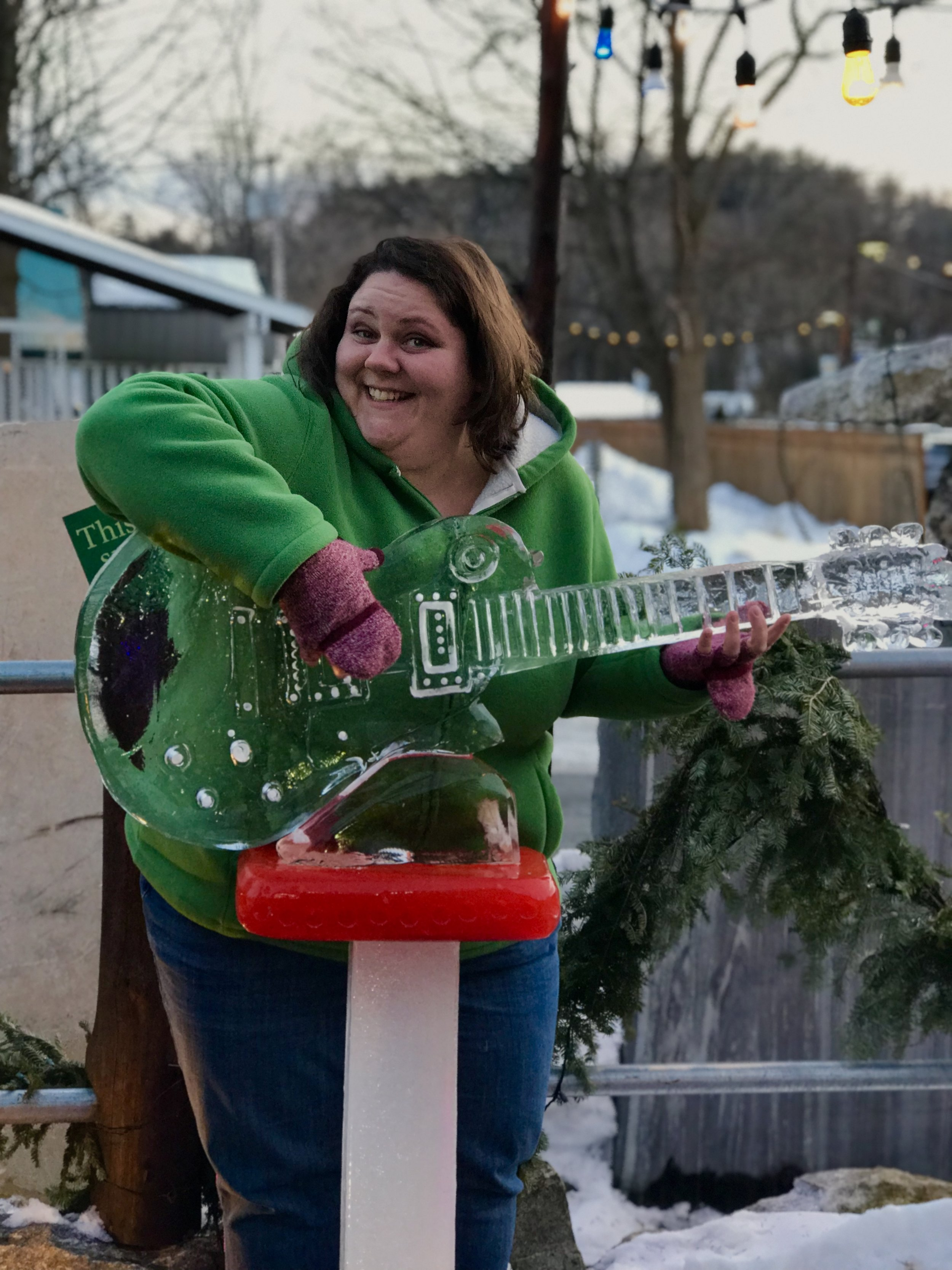 Had fun slappin' da bass - the ice bass that is - at Funky Ice Fest in Lake George, NY. c. January 2019