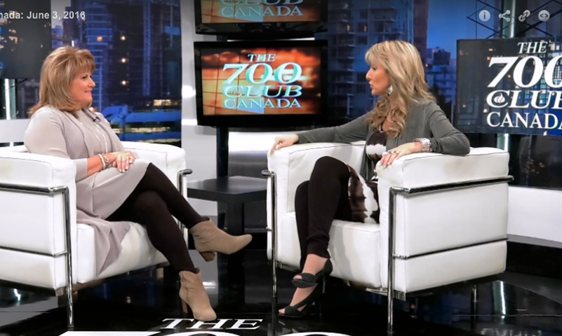 Cathie Interviewed at the 700 Club Canada