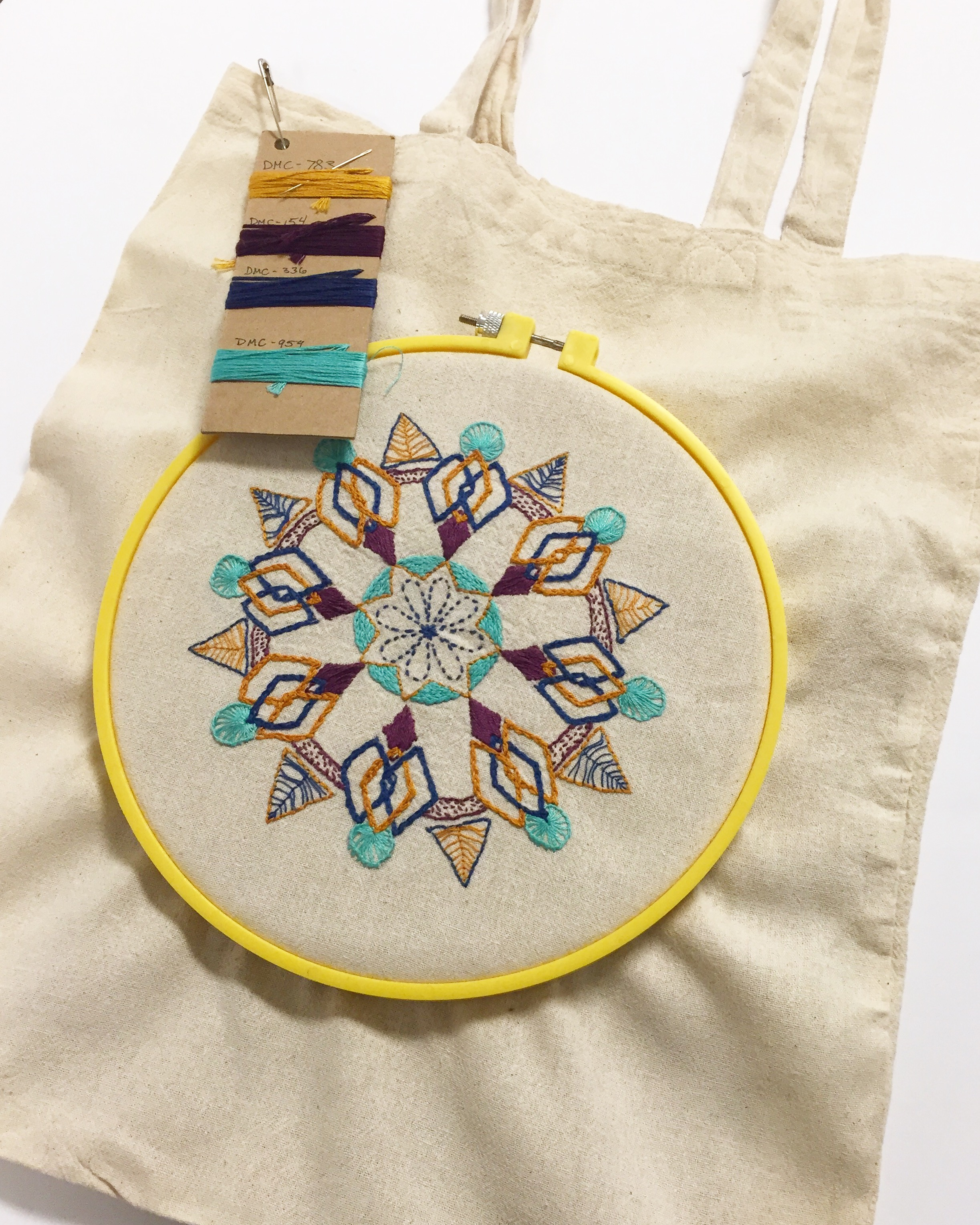 MANDALA TOTE EMBROIDERY WORKSHOP