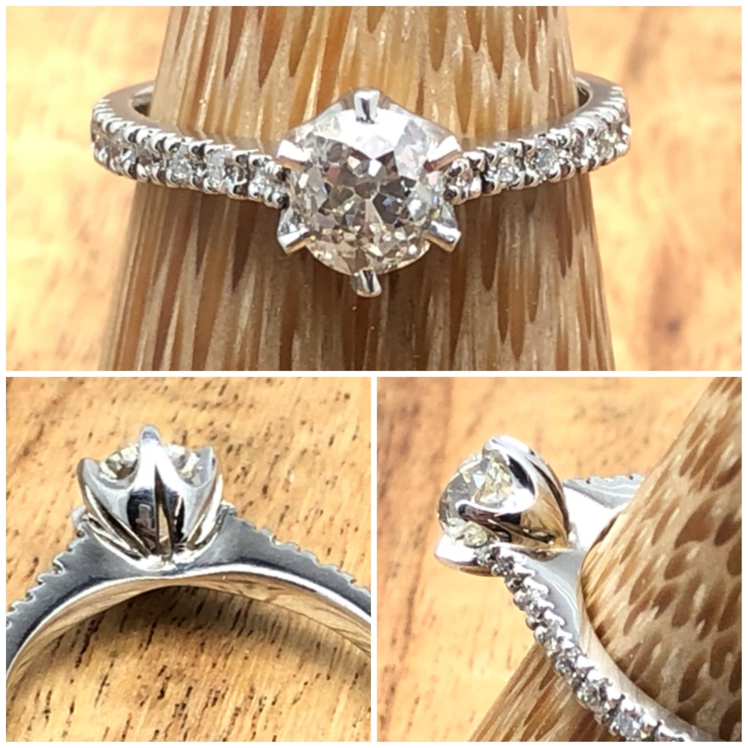 Old cut diamond engagement.JPG