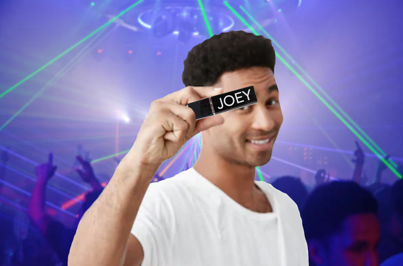 - Platinum gay, Joey, has really outdone himself this weekend by letting his friends know he's leaving ARQ at the premature time of 1am by whipping out a lipstick with his own name on it.  His posse of yet-to-pull friends were understandably gagged, as Joey shockingly announced