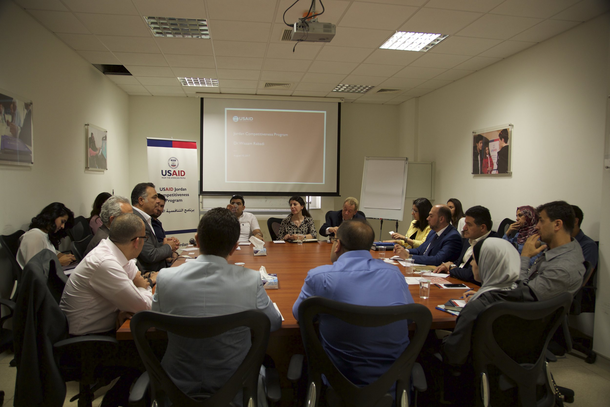 Group discussion at the introductory workshop for USAID-JCP's Firm Level Assistance program