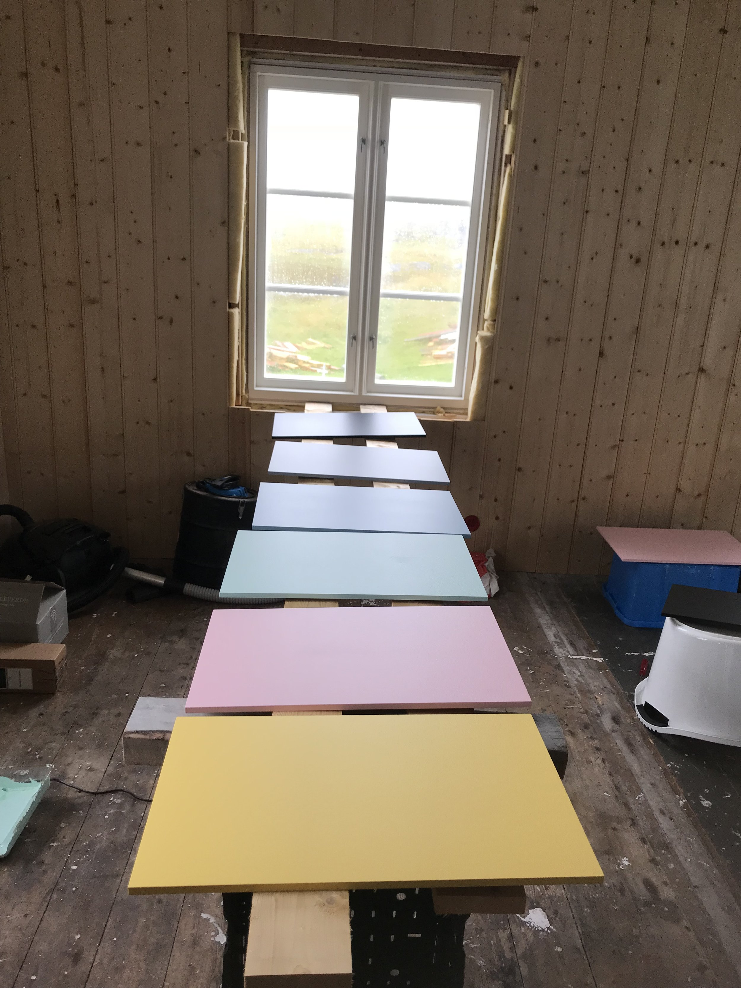 Preparation for the exhibition