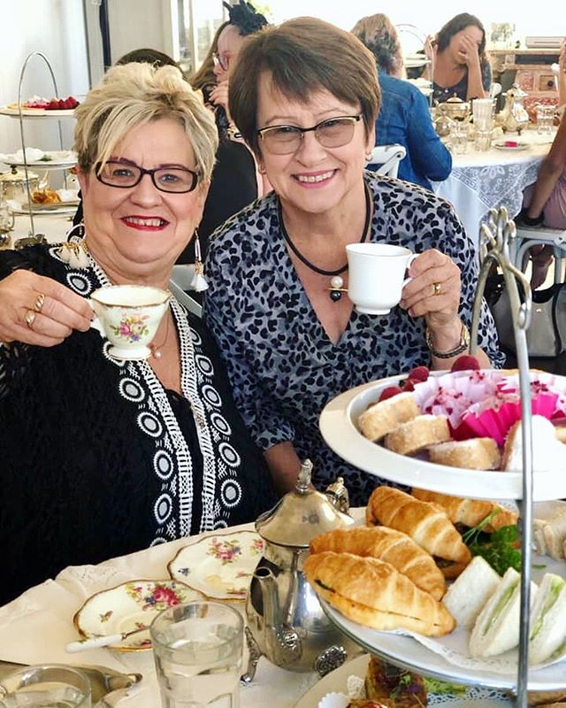 """""""Life is like a cup of tea ... best filled to the brim and enjoyed with friends."""" 💕☕️💕 . . Thank you beautiful friends for celebrating with us this weekend! Pic with thanks via our lovely customer @chantelbessell . 🍃"""