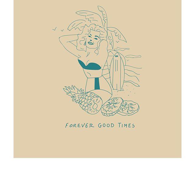 Timeless Artwork . . . #getoutanddrive #timelessgarage #summer #illustration