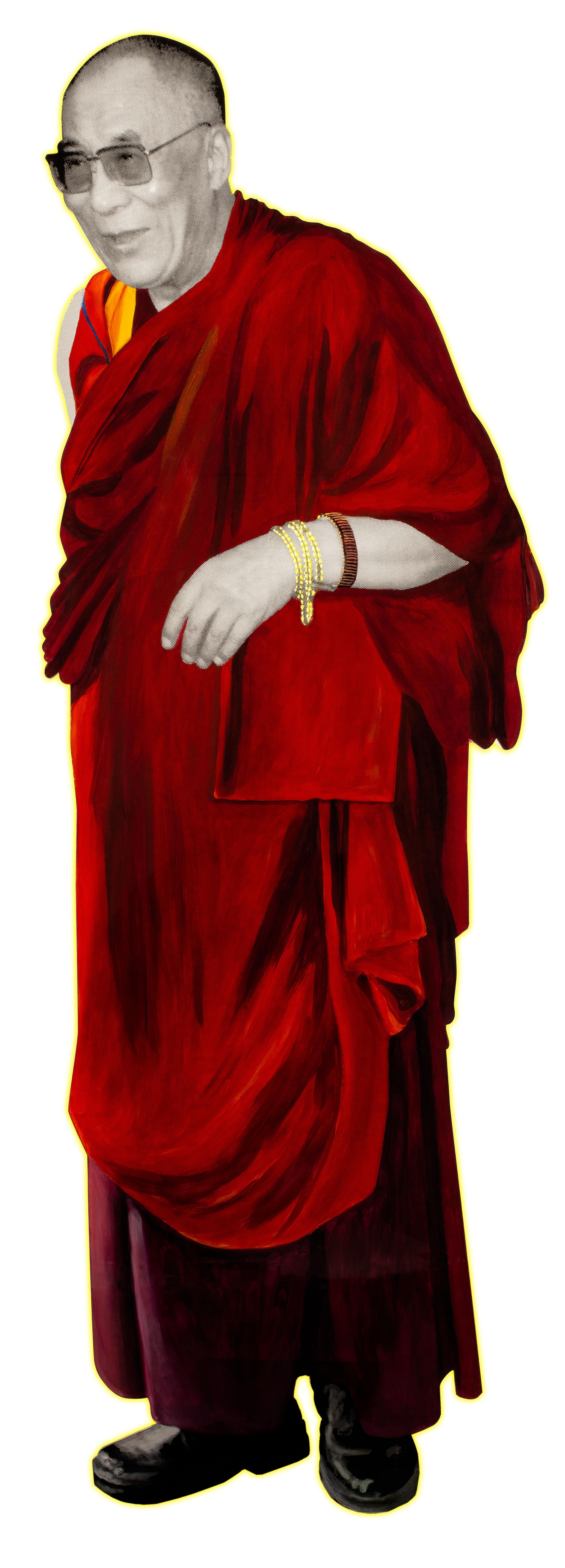 Painted perspex figure