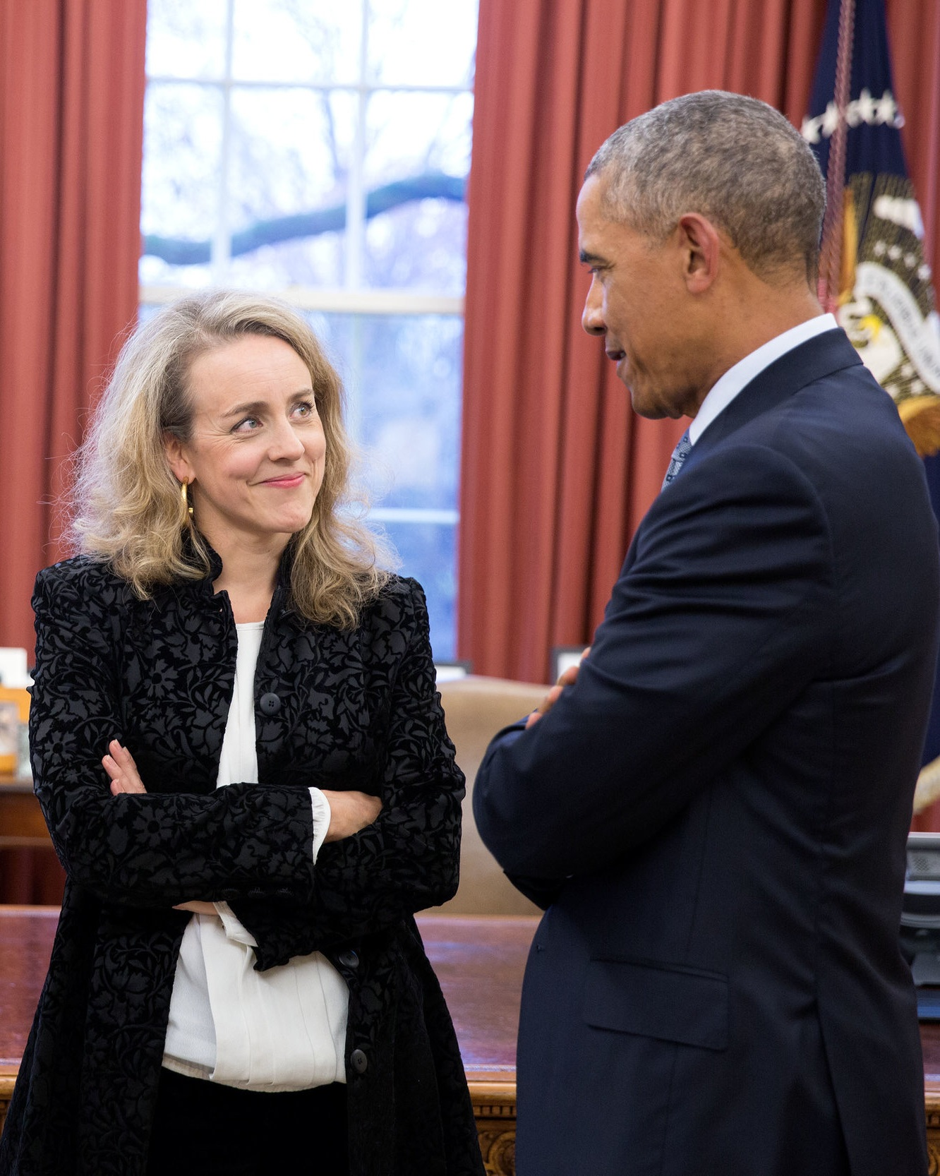Nicola Green with President Barack Obama