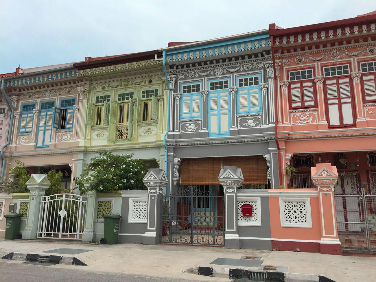 Houses on Koon Seng Road