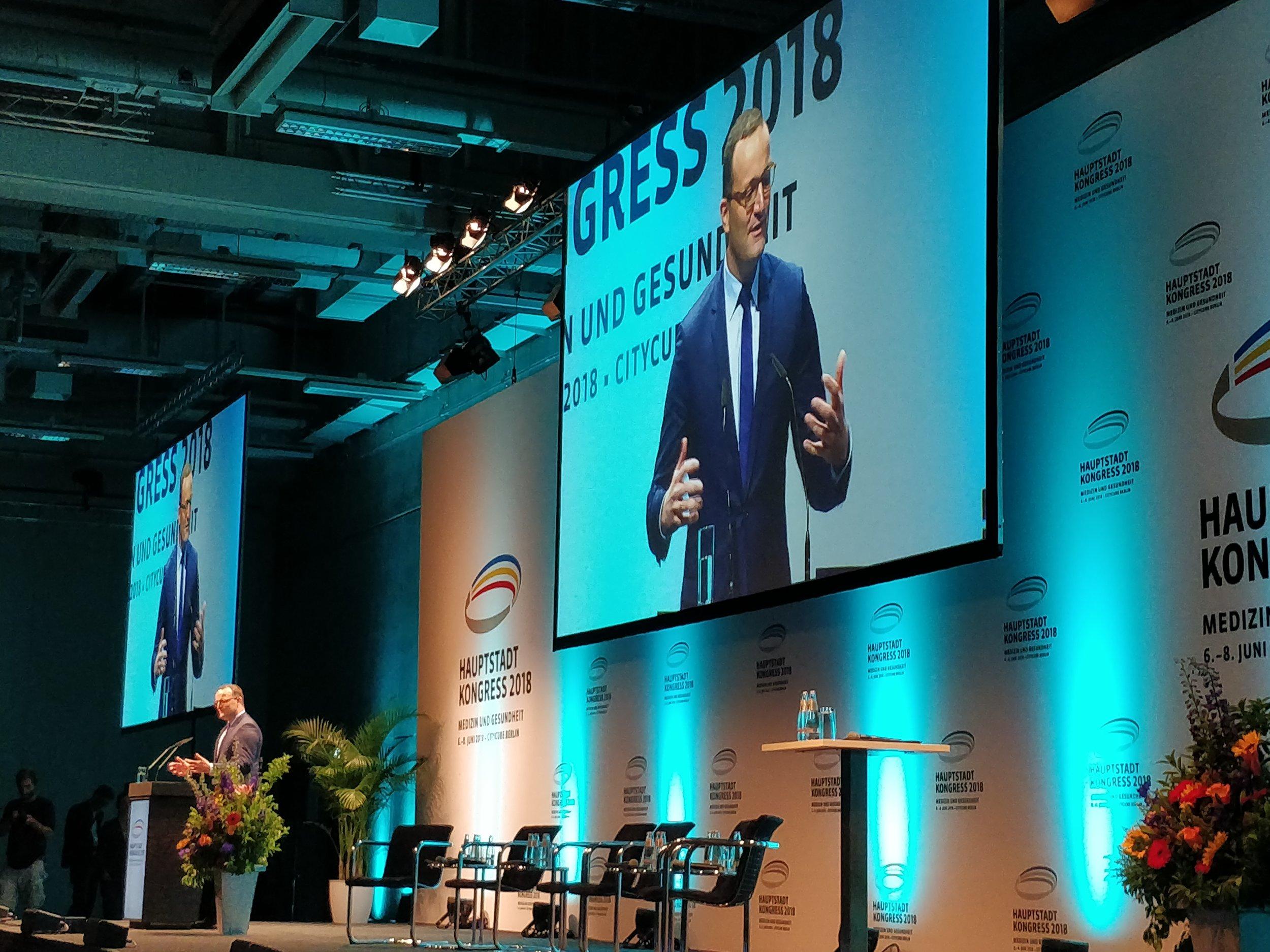 Sprach vor mehr als 8.000 Kongressteilnehmern: Bundesgesundheitsminister Jens Spahn.