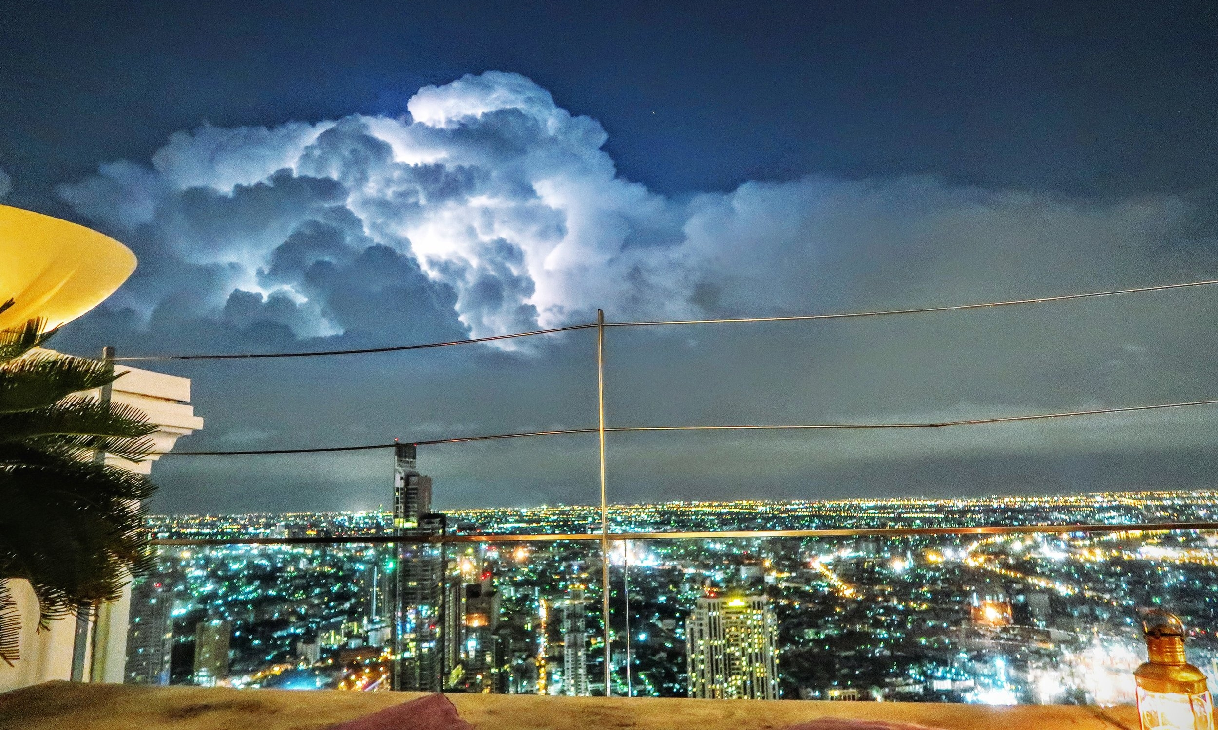 Bangkok - During our trip to Bangkok we visited the Lebua Skybar, the same one featured in the Hangover 2. We didn't expect that a huge lightning storm would be playing out in the Sky. An absolutely incredible sight!