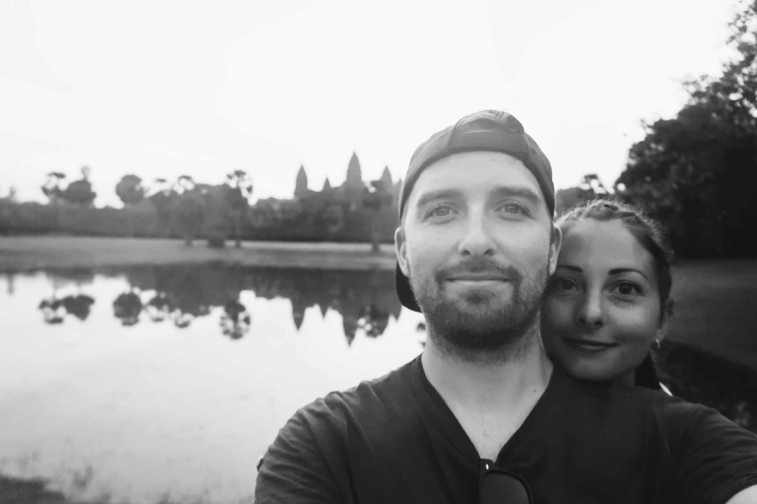 Angkor Wat - Me and Jade got up at 4:30am to see the sunrise at Angkor Wat, one of the most spectacular temples in the world, little did we know we would be joining about 3,000 other tourists at the same time.