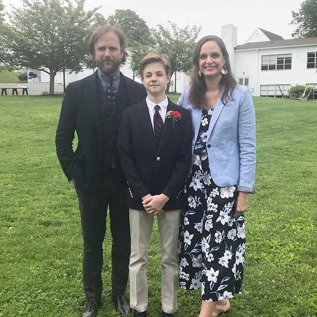 8th grade graduation. 🙌🎊 So proud of this young man. Started a new school this year, played 2 sports he had never played before, went to Worlds in Robotics, and made the honor roll. That's my boy! #braggingrights