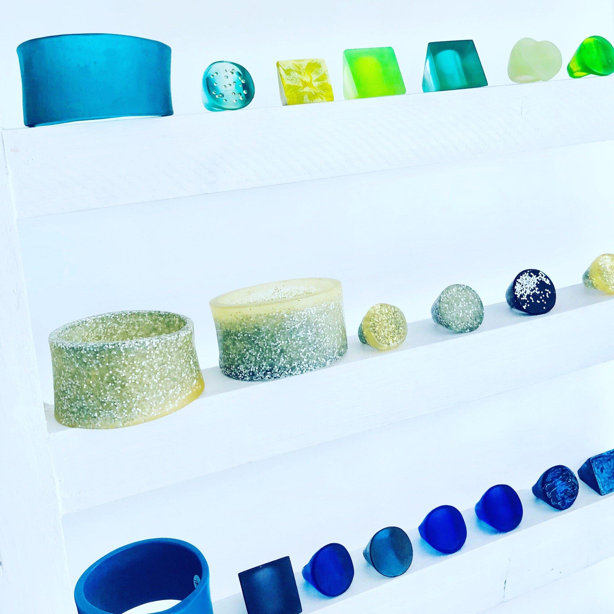 resin rings bracelets colours.JPG