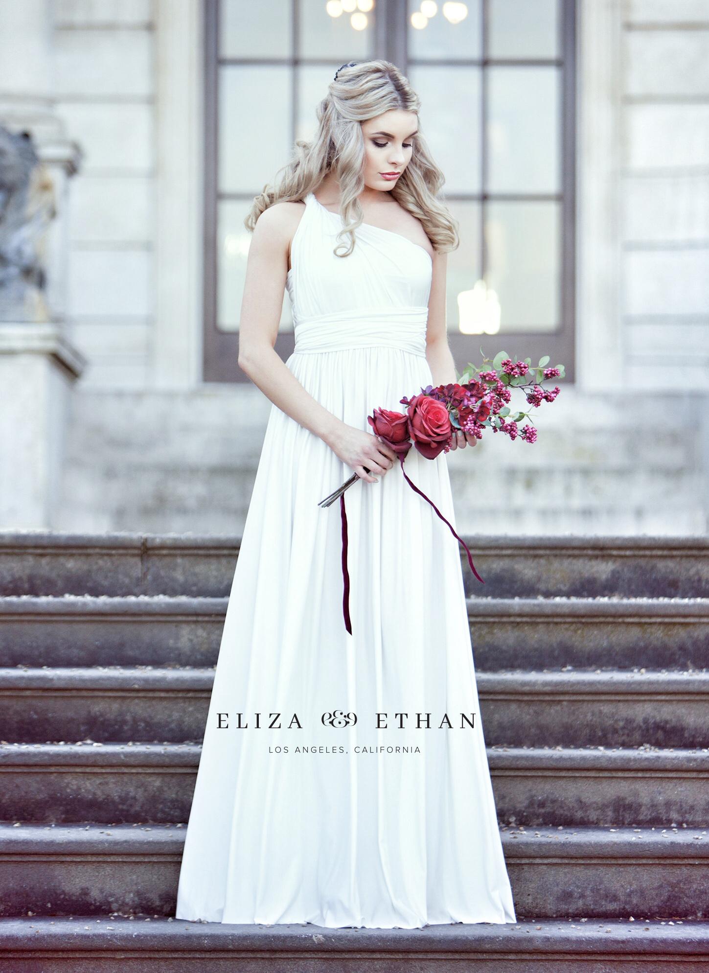 Eliza & Ethan multi way wrap dress wedding dress bridal ivory