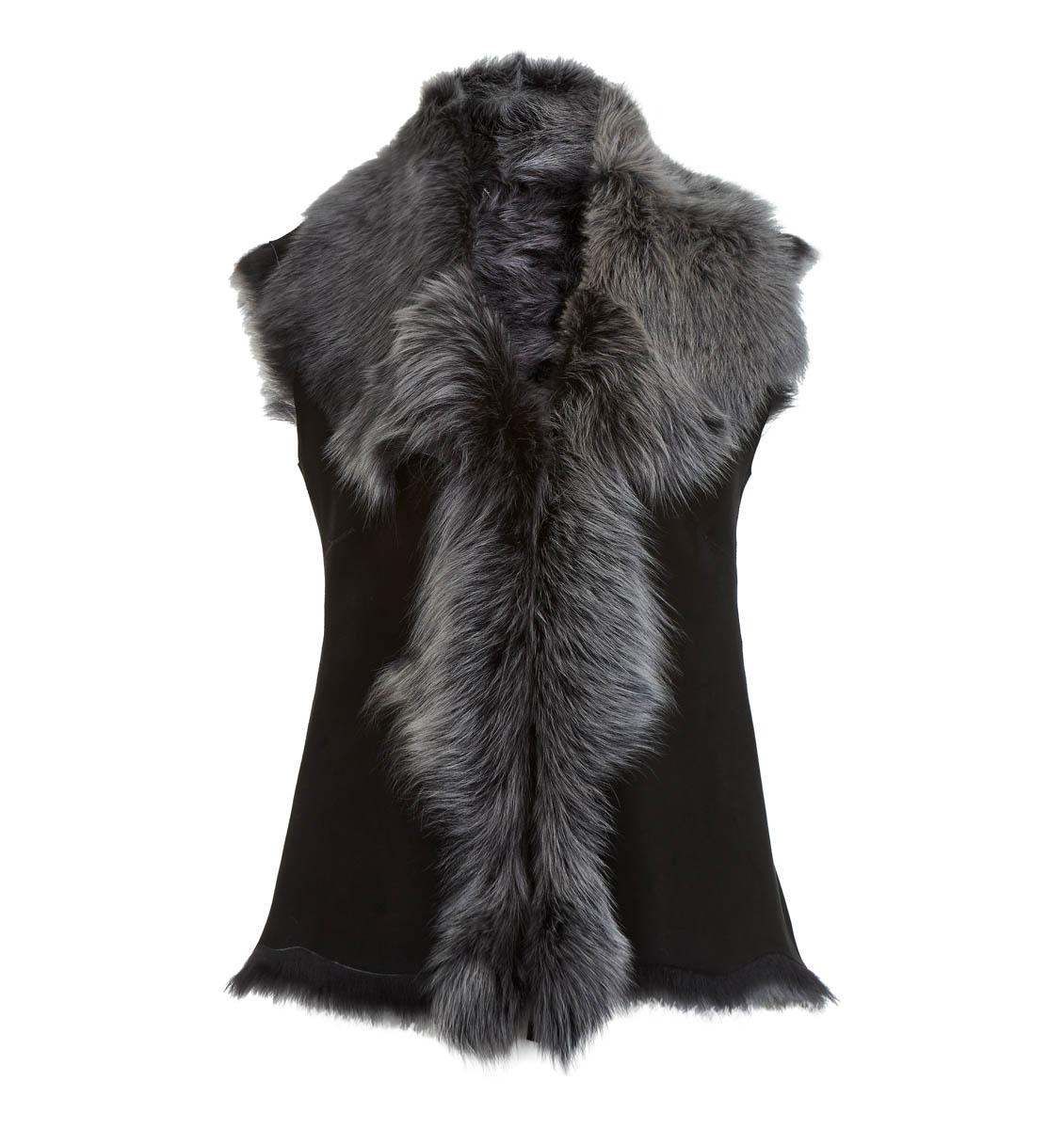 Leather Classics black gilet