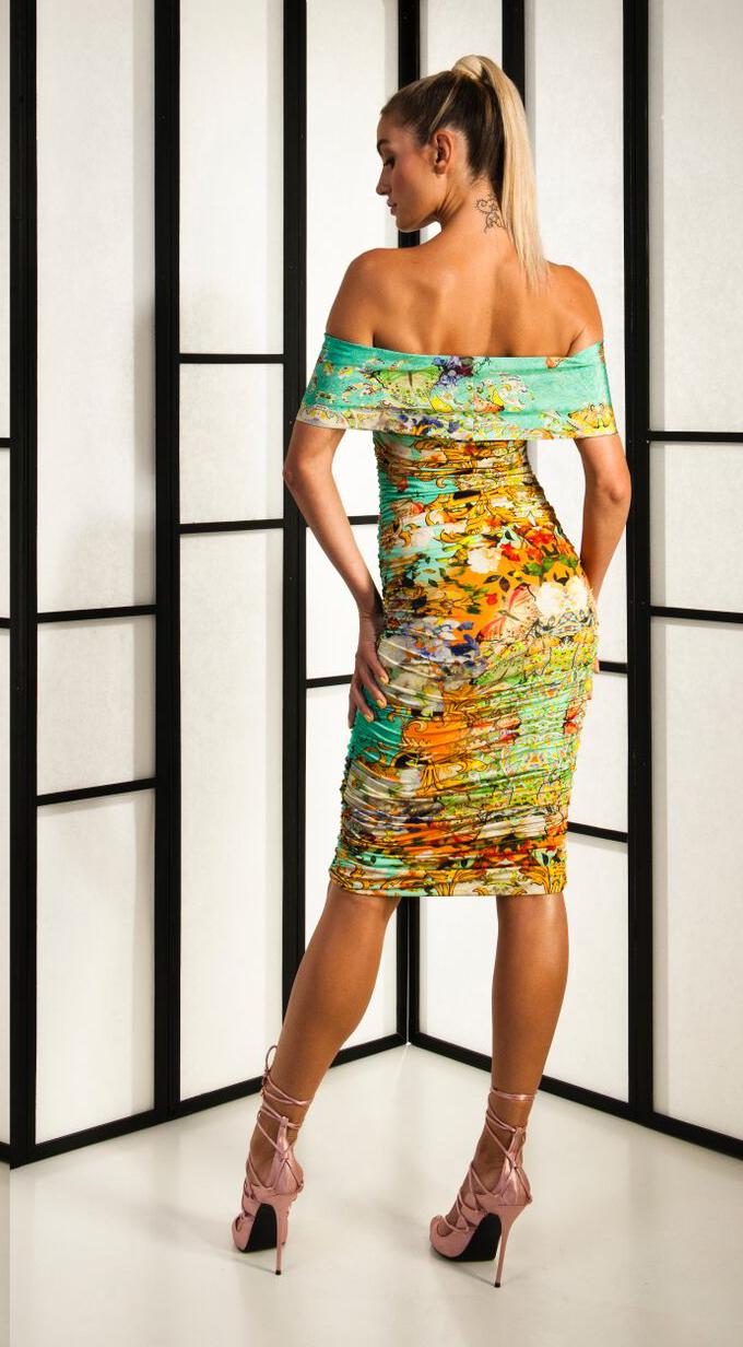 Kevan Jon floral print midi dress